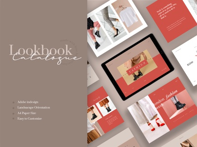 Bright – Lookbook Catalogue apparel logbook a4 flyer brochure promotion design sale catalogue clothing business models mode