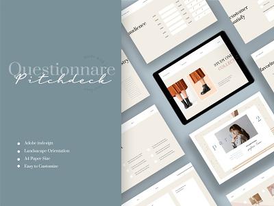 Slavina – Pitchdeck Questionnare Template apparel logbook a4 flyer brochure promotion design sale catalogue clothing business models mode