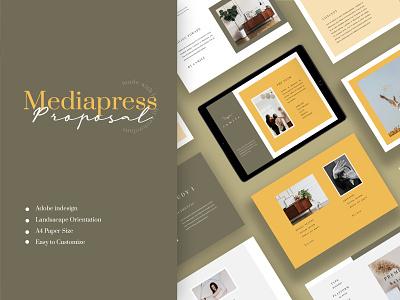 Camile – Media Press Kit Template apparel logbook a4 flyer brochure promotion design sale catalogue clothing business models mode