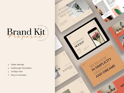 LRose – Branding Proposal Template apparel logbook a4 flyer brochure promotion design sale catalogue clothing business models mode
