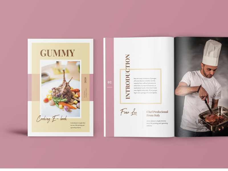 Gummy – Cooking Book Magazine Template