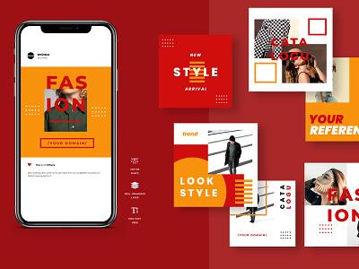Four Duotone Instagram Post Template digitalmarketing digital social twitter facebook business promo marketing fashion socialmedia promotion instagramstories stories instagram