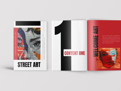 StreetArt – Pop Art Lookbook Magazine word print design print template fashion lookbook printtemplate brochure promotion marketing identity branding template indd ndesign