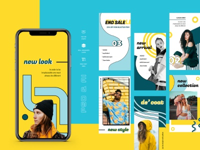 Hara – Instagram Stories Template social twitter facebook business promo marketing fashion socialmedia promotion instagramstories stories