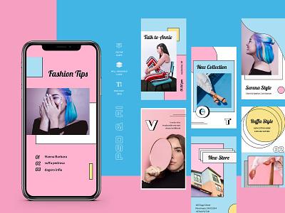 Vennon – Instagram Stories Template social twitter facebook business promo marketing fashion socialmedia promotion instagramstories stories