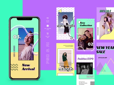 Toscan – Instagram Stories Template social twitter facebook business promo marketing fashion socialmedia promotion instagramstories stories