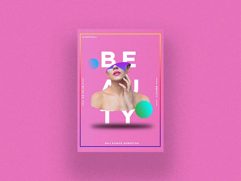 """BEAUTY"" branding design photoshop"