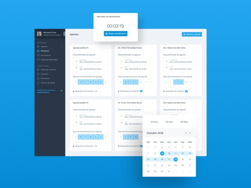 Consulta Já - Saas / Dashboard dashboard modal nav sidebar navigation sidebar ux ui web interface 12col brasil tech blue grid layout design components design system
