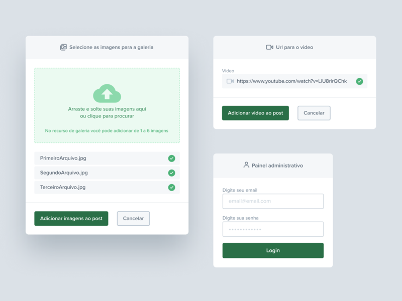 Blog and Product — Forms 2 container popover feedback smooth rounded form submit checkbox green interfafce ui elements design system component card upload popup modal