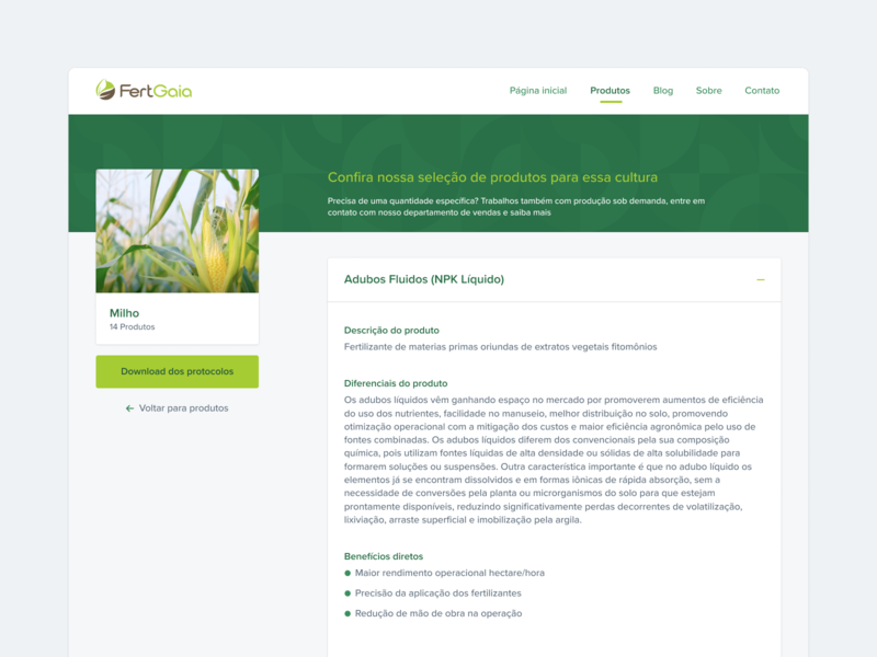 Product page 🍏 minimalism token component container infos cms interface product design agro green tech card guides accordion product page collapsed collapse product são paulo ribeirão preto