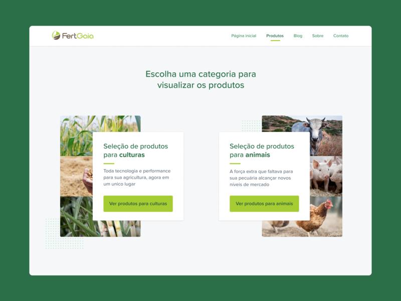 Category options product design system header options green gride bussiness tech agro way components card choose são paulo ribeirão preto