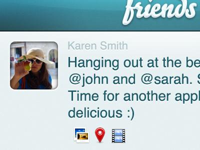 """Social Posting"" App UI v.2 ui iphone icons"