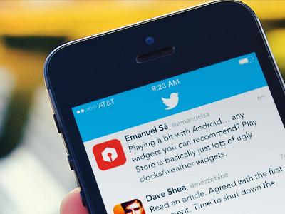 Twitter for iOS 7 ios iphone ios7 twitter ui screenshot pixels bird