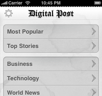 Digital Post for iPhone (cont'd)