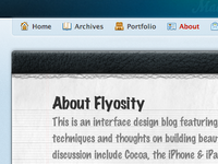 New Flyosity Design: About Page