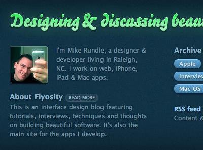 New Flyosity Design: Footer web design texture type bello pro