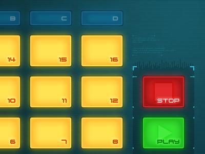 """""""Futuristic DJ"""" App UI ipad tutorial music ui design"""