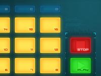 """Futuristic DJ"" App UI"