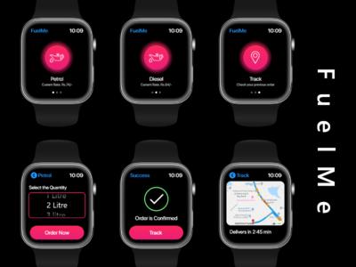 Apple Watch - UI Design - FuelMe