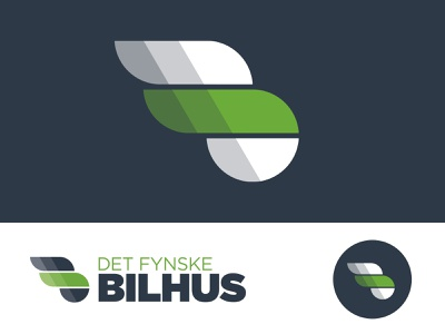 Det Fynske Bilhus logo clean branding graphic design logodesign icon speed illustrator logo