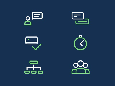 Icons structure multiple users payment live chat illustrations clean stroke icons lineart icon set