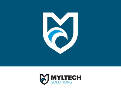 Myltech Solutions logo wave marina illustrator logo design logo