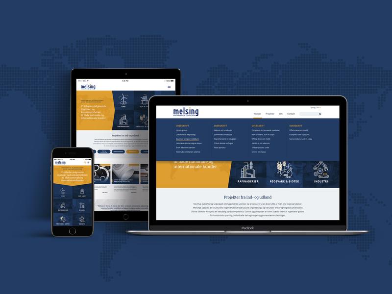 Webdesign for Melsing