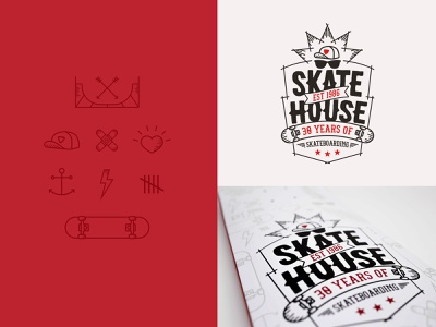 Skateboard design skateboard icons illustration