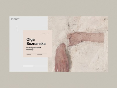 Page design for the National Museum