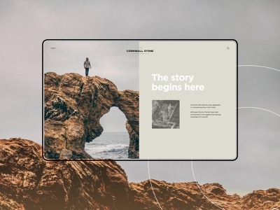 Cornwall Stone logo design web design ui design ux design