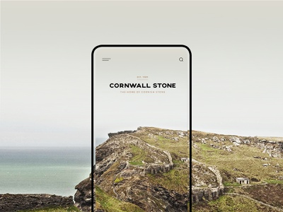 Cornwall Stone - mobile ui design ux design web design mobile logo dribbble