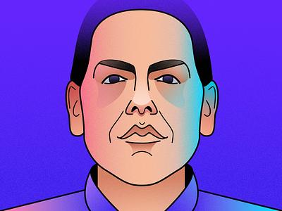 Owen Milgrim vector illustration vector portrait illustration portrait face maniac illustrator digital painting digital illustration digitalart illustration art illustration