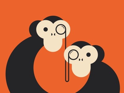 Chimps digital illustration digitalart design vector illustration illustrator dribbble vector character animation animals illustration art illustrations illustraion character design chimps
