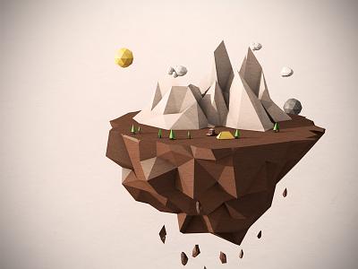 Lonely Adventures adventure island world illustration 3d low poli