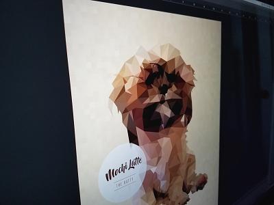 Low Poly Puppy Portrait creative design geo portrait low poly