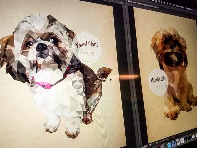 Low Poly Protrait Progress digital print progress good dogs portrait illustration low poly