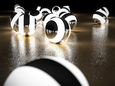 Ambitions gold black physical render art design 3d