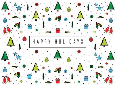 Happy Holidays mistletoe holiday card ornaments christmas holidays