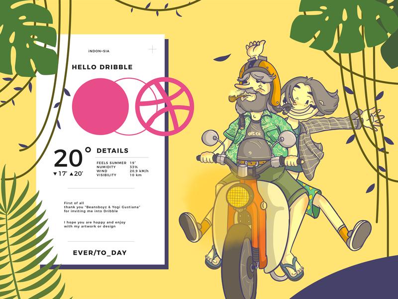 Hai Whatsap.. designgraphic design typogaphy honda cubseries artwork art illustration