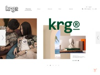 UIX Landingpage for KRG® Supply Co.