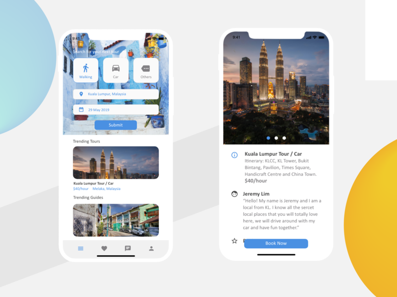 YoGuide - Finding your travel guiding light app apps application ux design sketch app