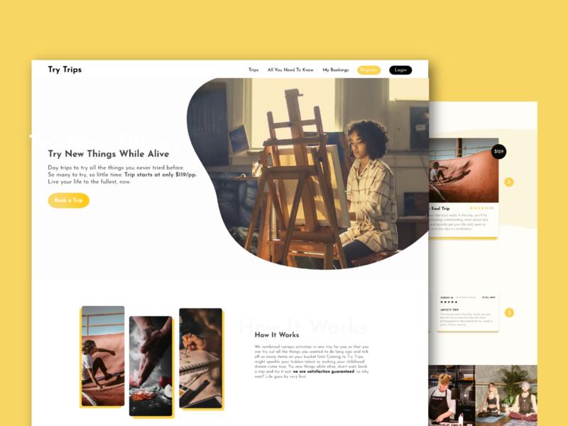 Art Classes/ Lessons Website web design web website app design booking app sketch ux designer ux design