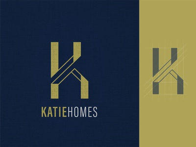Katie Homes Logo logoinspiration logos logotype logodesign realestate logo klogo real estate branding homebuilder graphic design vector design logo flat company logo branding homes real estate agency real estate