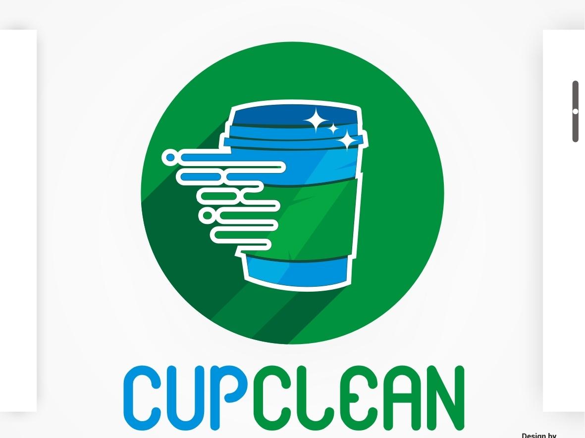 Cupclean green clean cupclean branding logo flat company logo