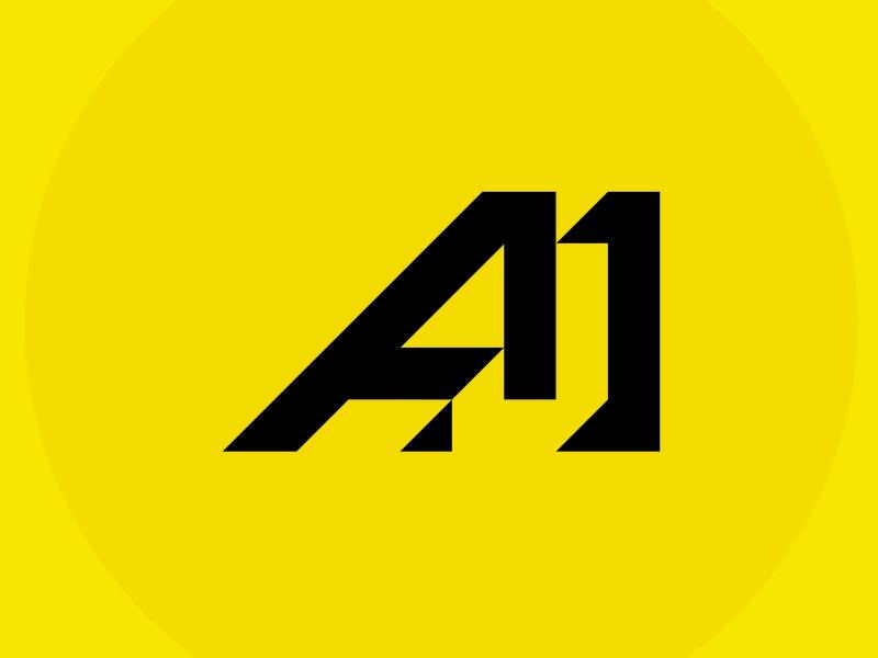 AJM Logo Initial flat design logo contruction industry initial logo company logo
