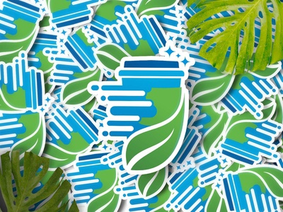 Cup Clean Sticker