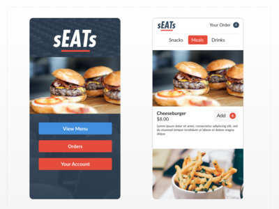 Mobile App - Seats