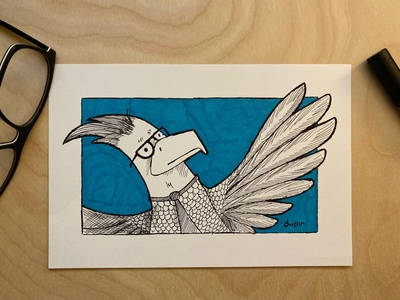 Daily Drawing - Day 6 - Legal Eagle