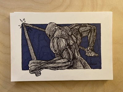 Daily Drawing - Day 9 - Bent out of shape