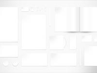 BLANK Stationery Mockup - Free Stationery Mockup PSD